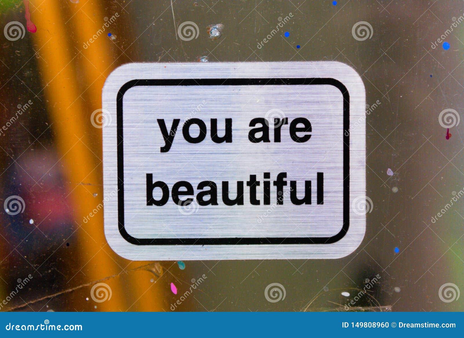 Você é sinais bonitos