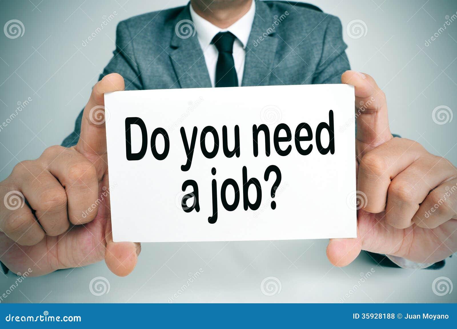 Você precisa um trabalho