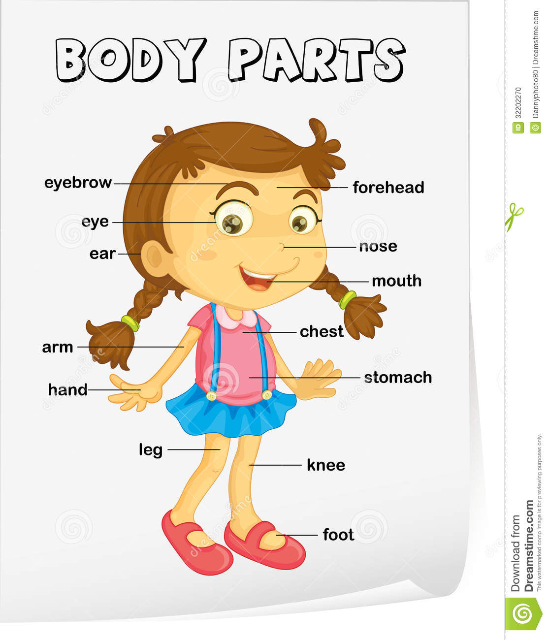 Body Parts In Spanish Worksheet For Kids Vocabulary worksheet - parts