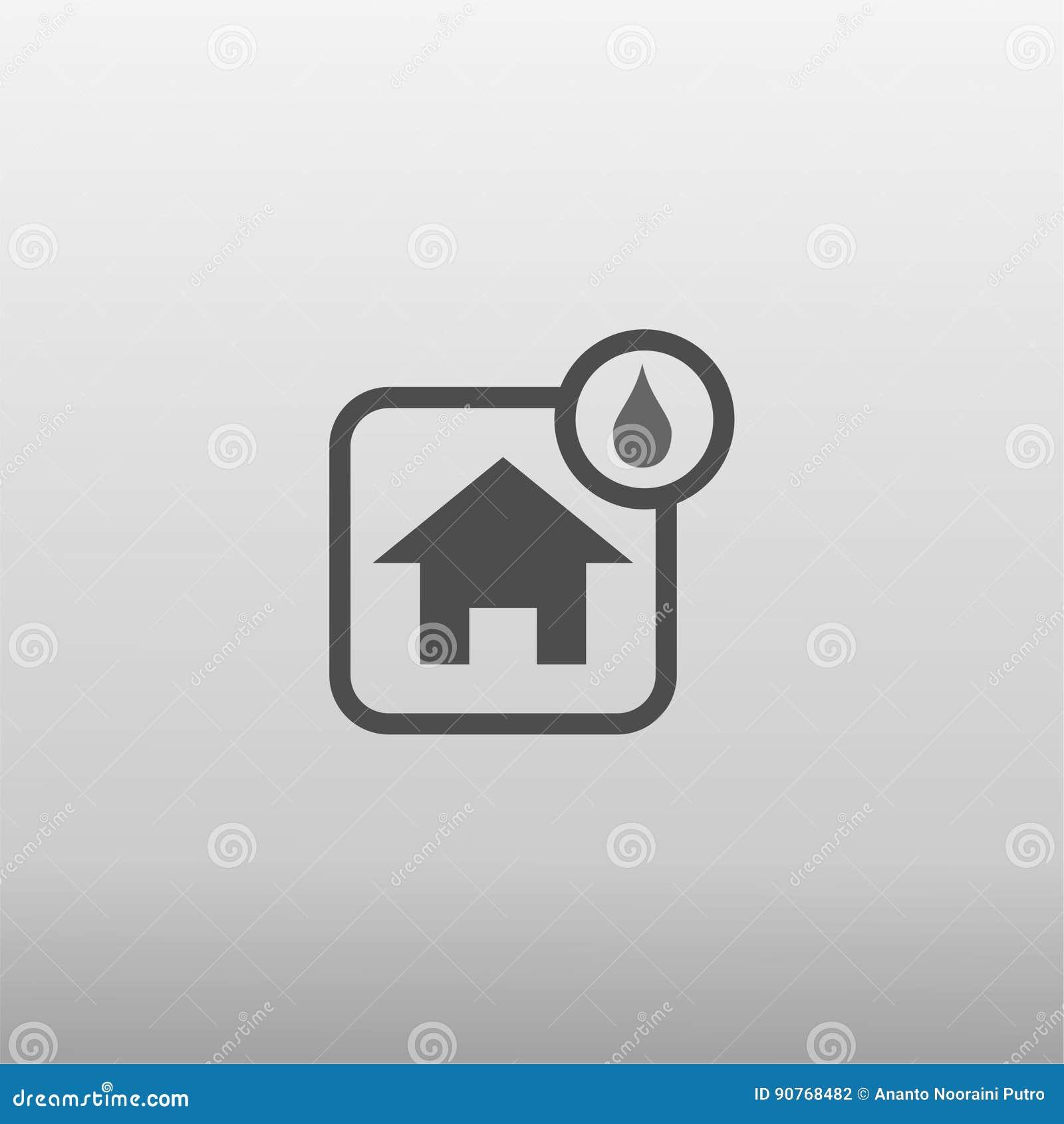 Vochtig huispictogram