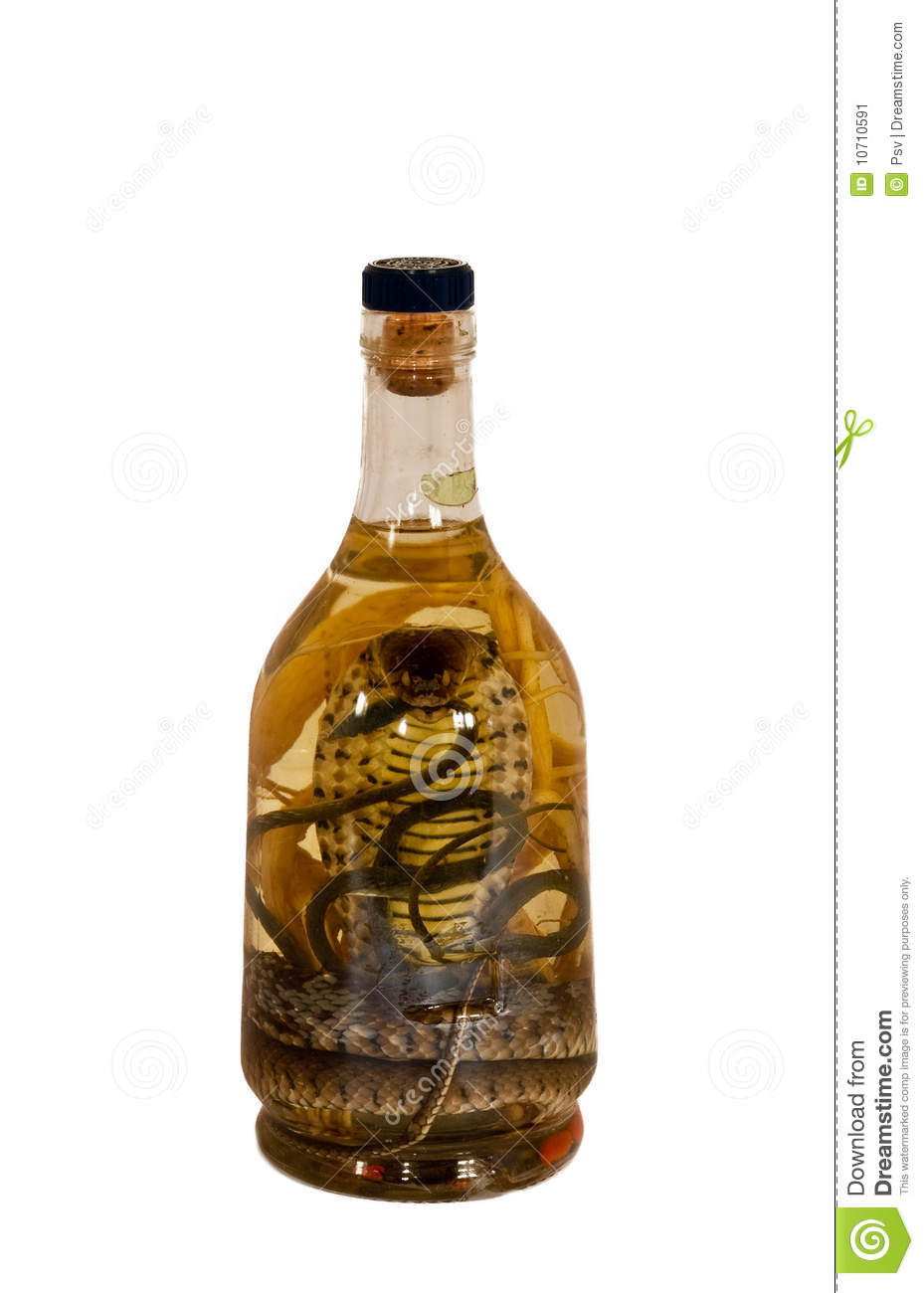 vodka with snake in a bottle stock image image 10710591. Black Bedroom Furniture Sets. Home Design Ideas