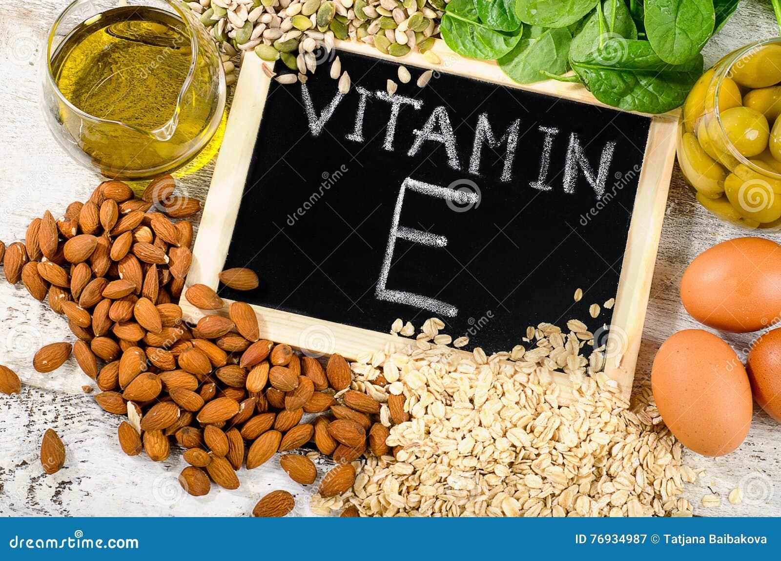 Voedsel hoog in een vitamine E