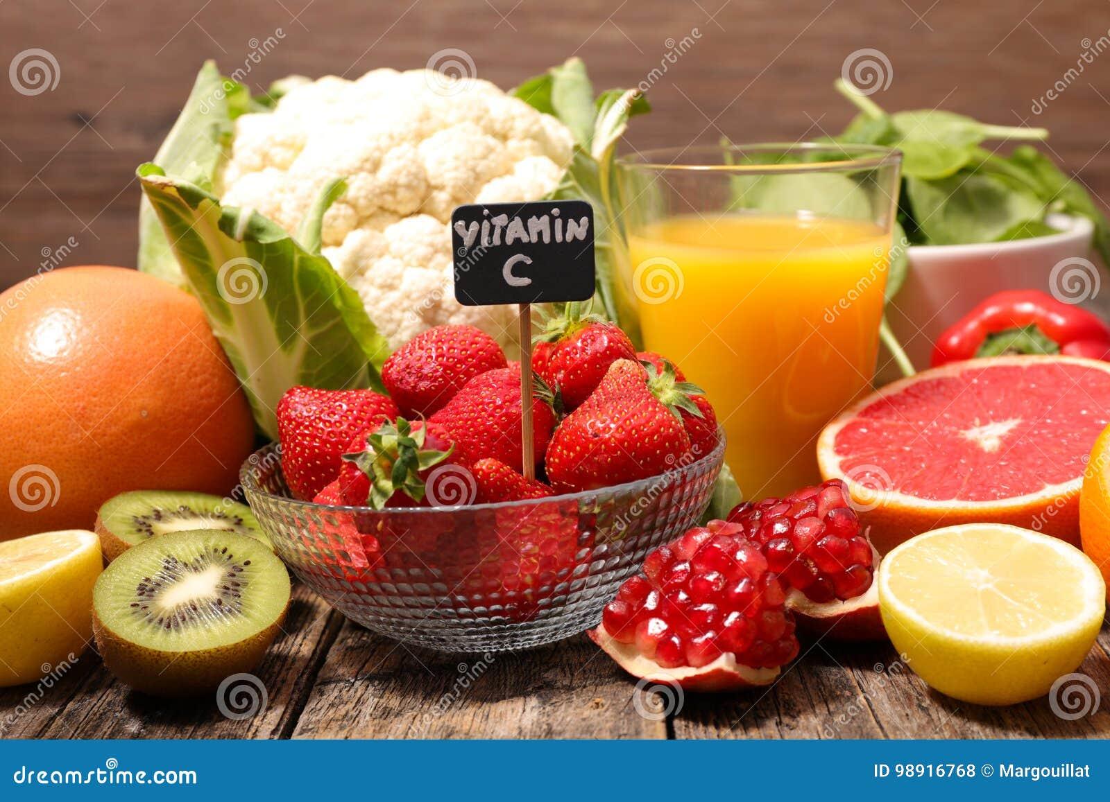 Voedsel hoog in vitamine