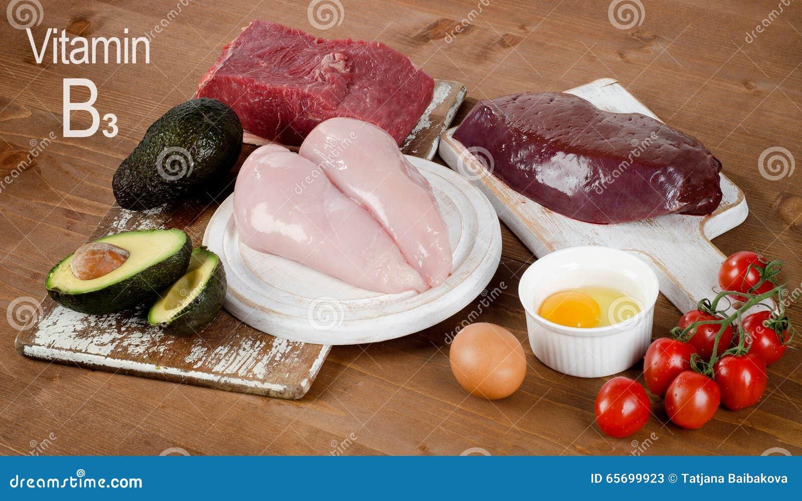 Voedsel Hoog in Vitamine B3