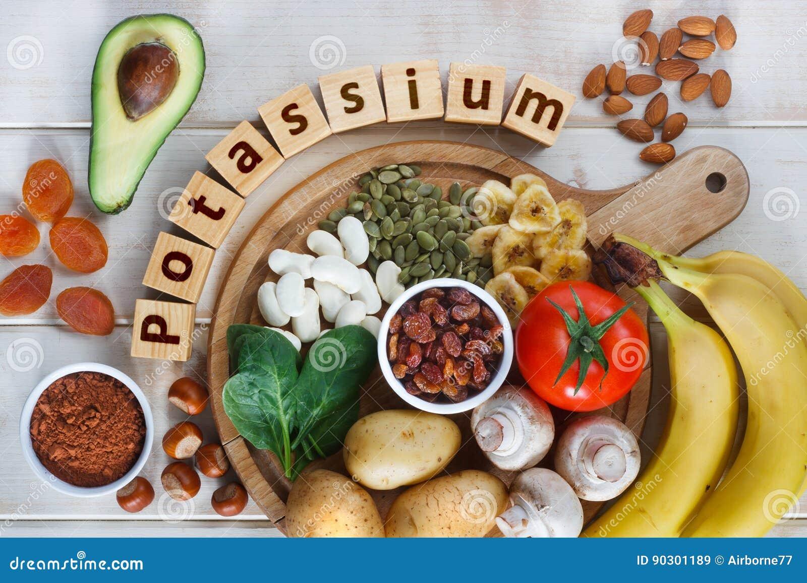 Voedsel Hoogst in Kalium