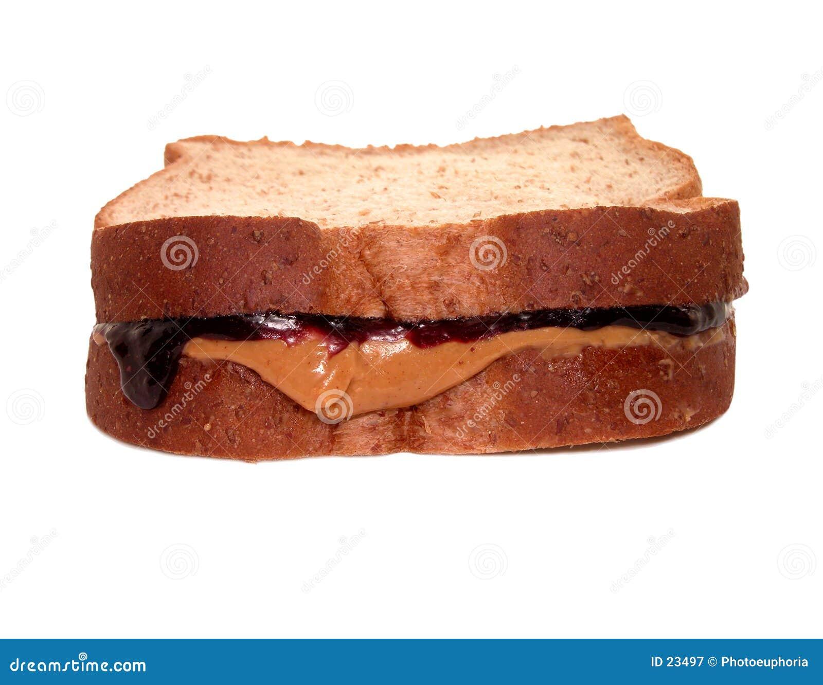 Voedsel: PB&J sandwich