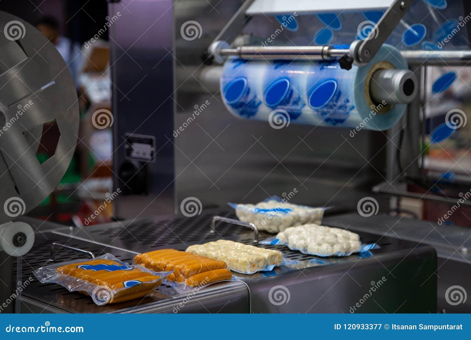 Voedsel plastic verpakkende machine