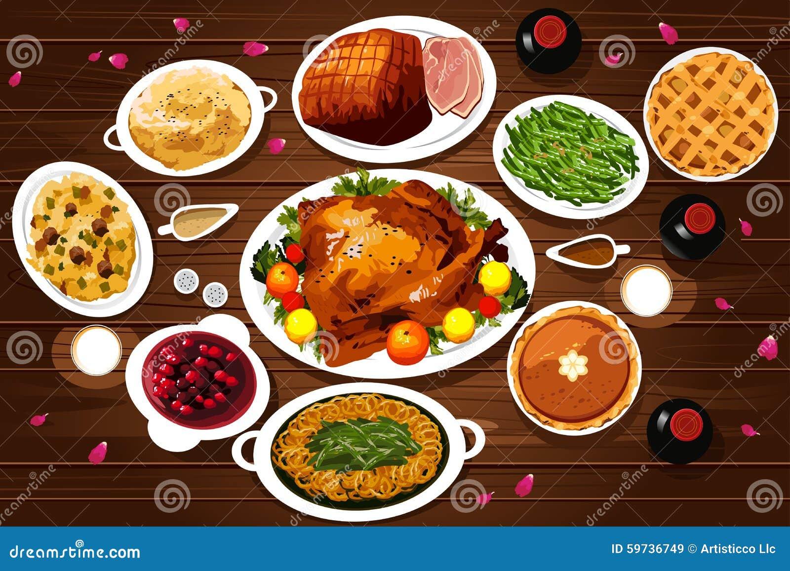 Voedsel van Dankzeggingsdiner
