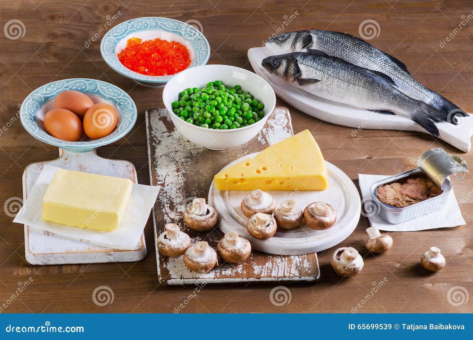 Voedsel Van Vitamine D Stock Afbeelding Afbeelding Bestaande Uit Producten 65699539