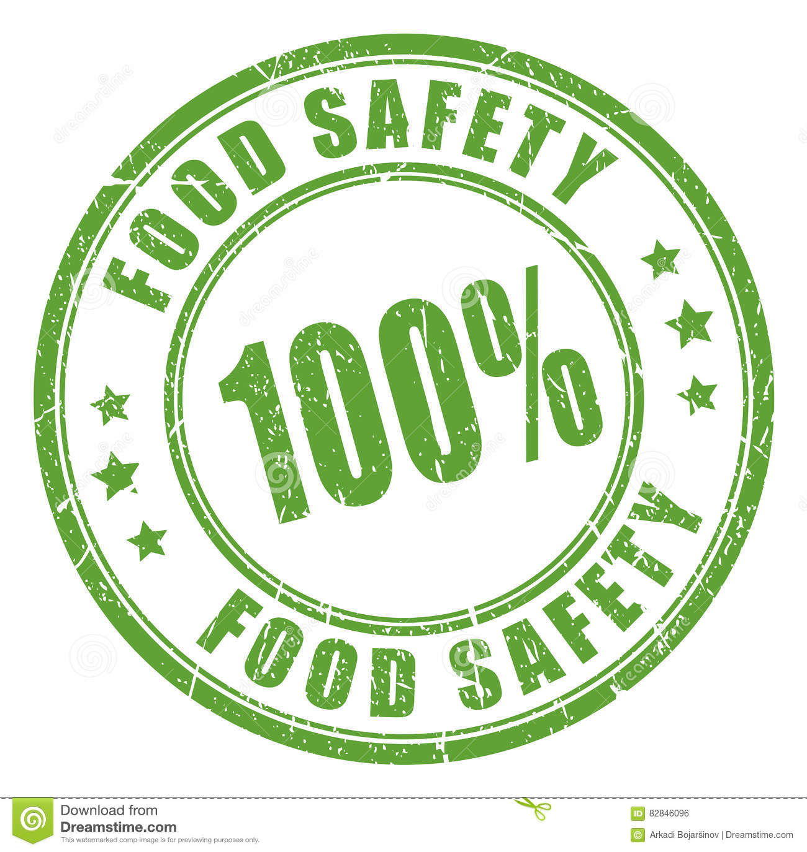 Voedselveiligheid Rubberzegel Vector Illustratie ...