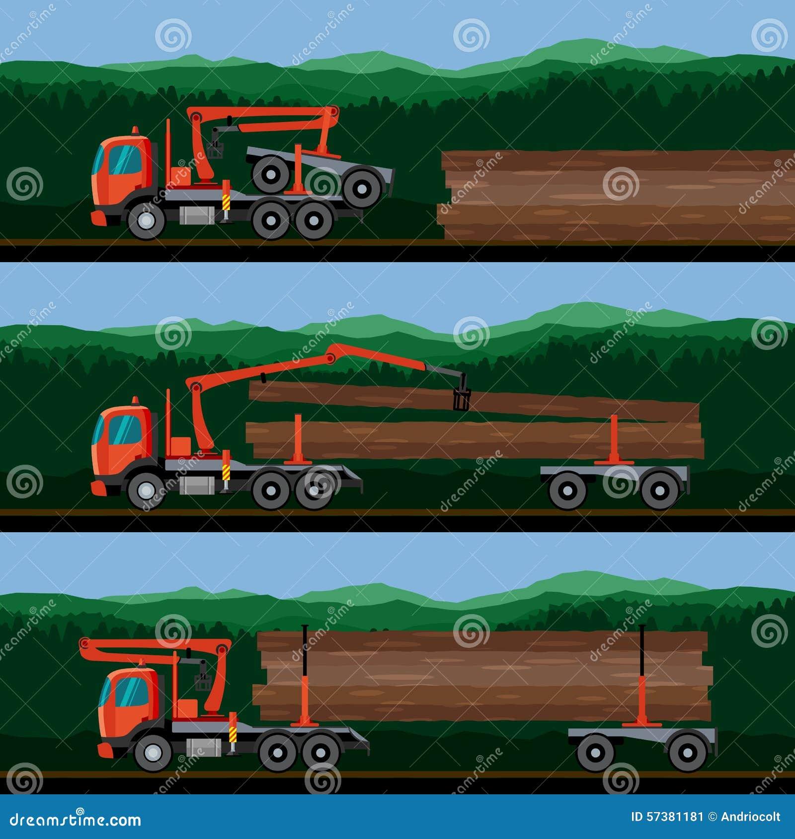 Voertuigen voor het vervoer van hout