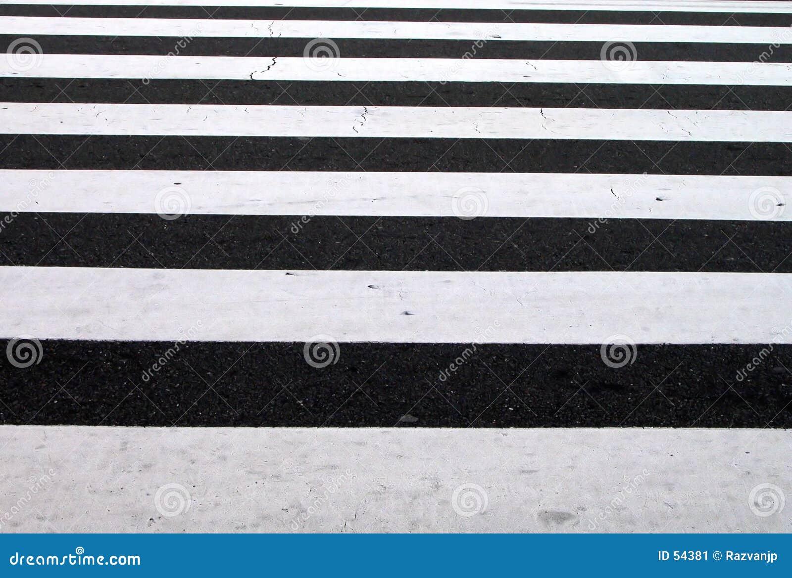 Voet zebrapadtextuur