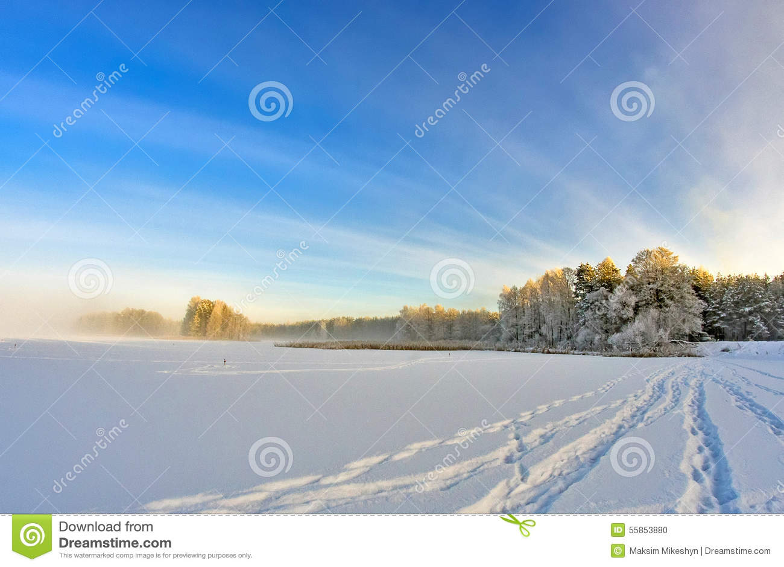 Voetafdrukken in het Sneeuwmeer