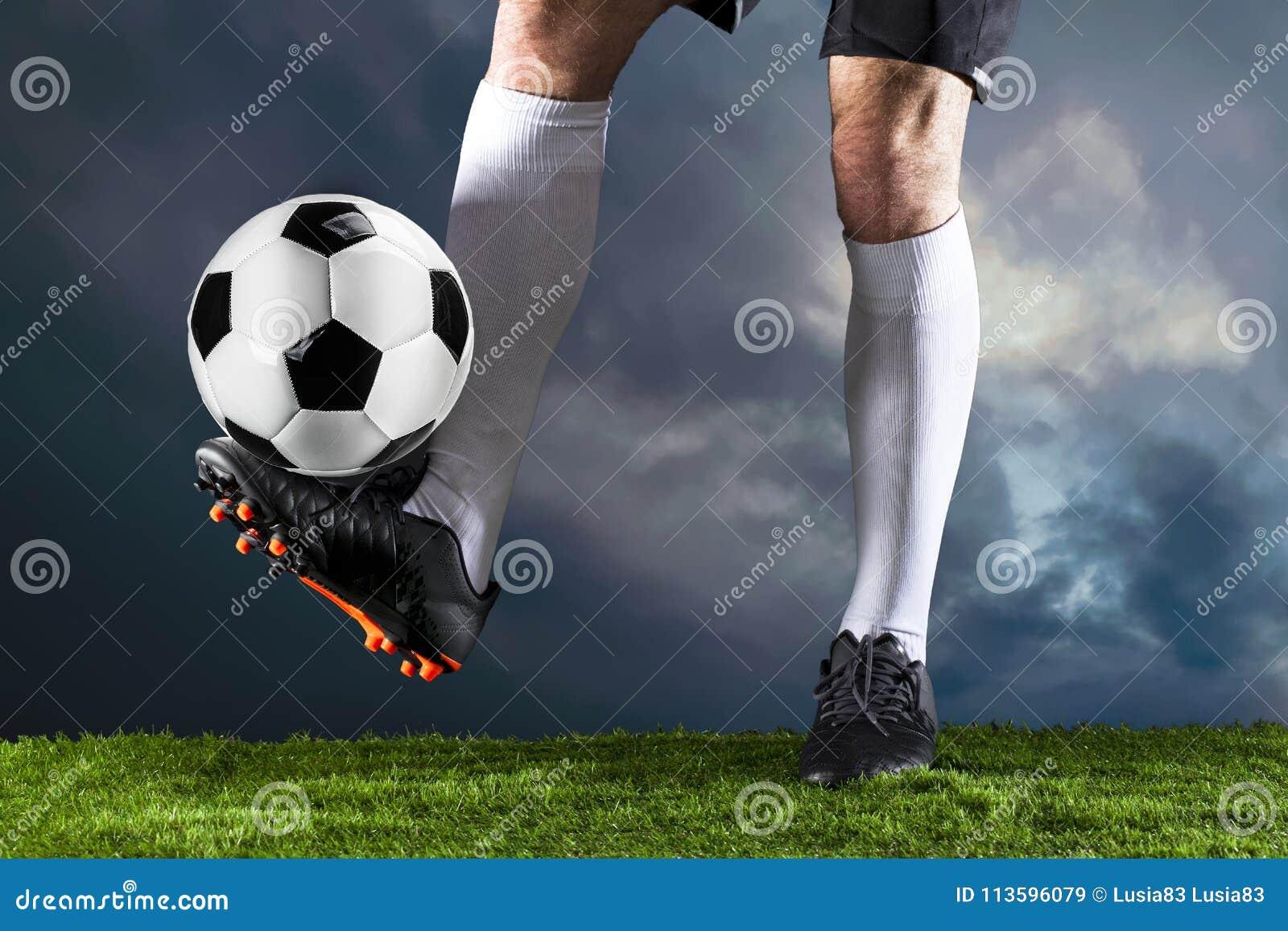 Voetbal Fotballgelijke Kampioenschapsconcept met voetbalbal
