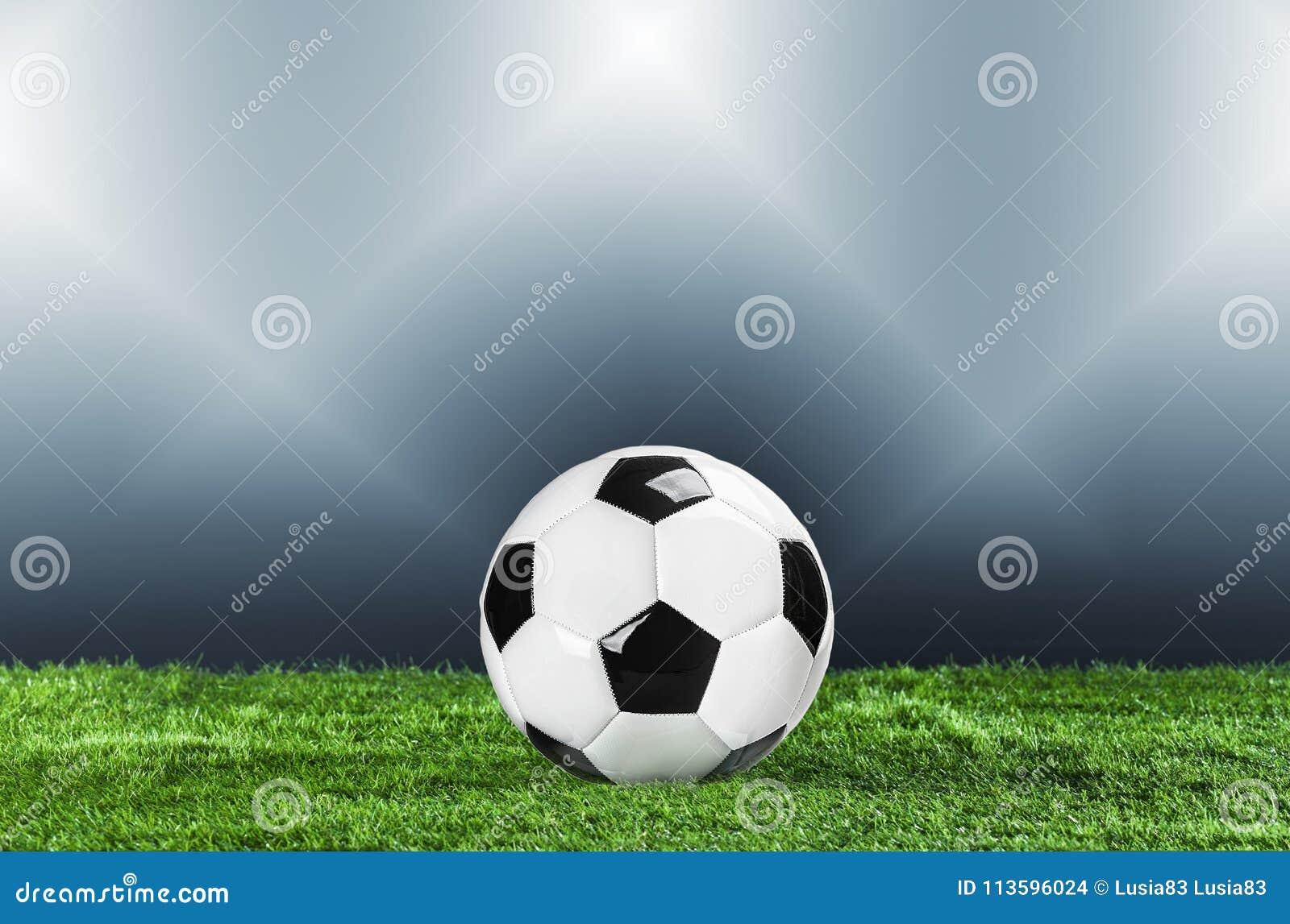 Voetbal Kampioenschapsconcept met voetbalbal