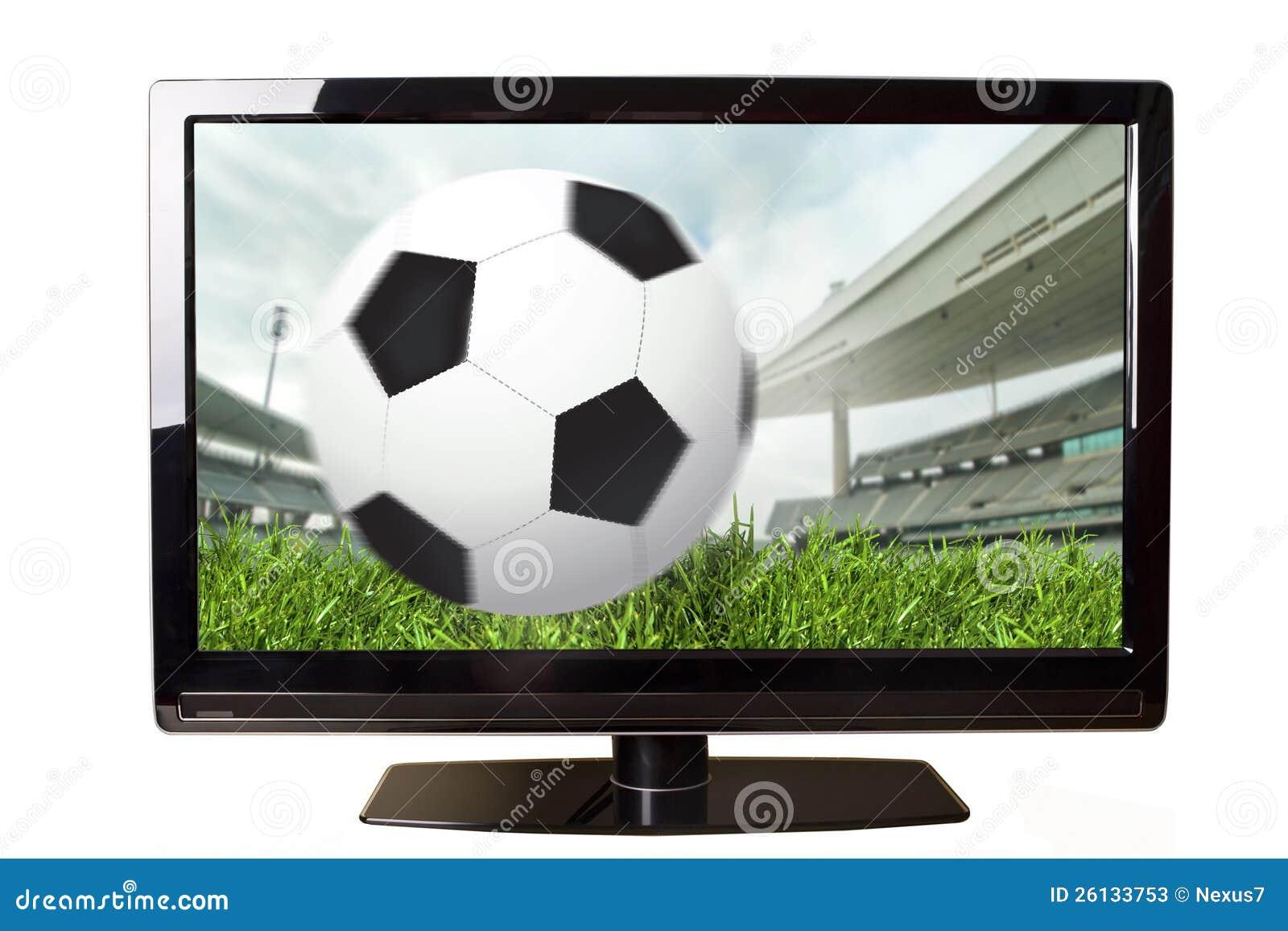 Voetbal op tv stock illustratie illustratie bestaande uit for Tuinprogramma op tv