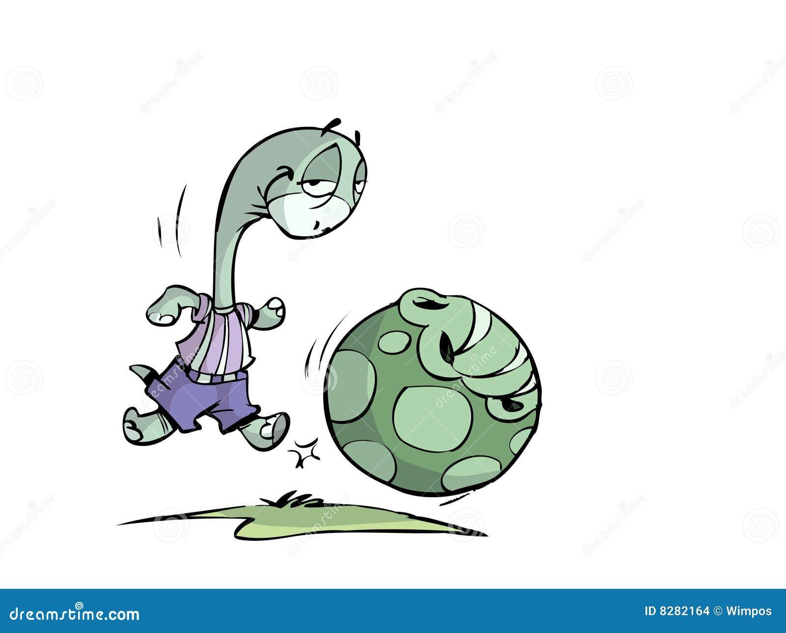 Stock Afbeeldingen: Voetbal schildpad