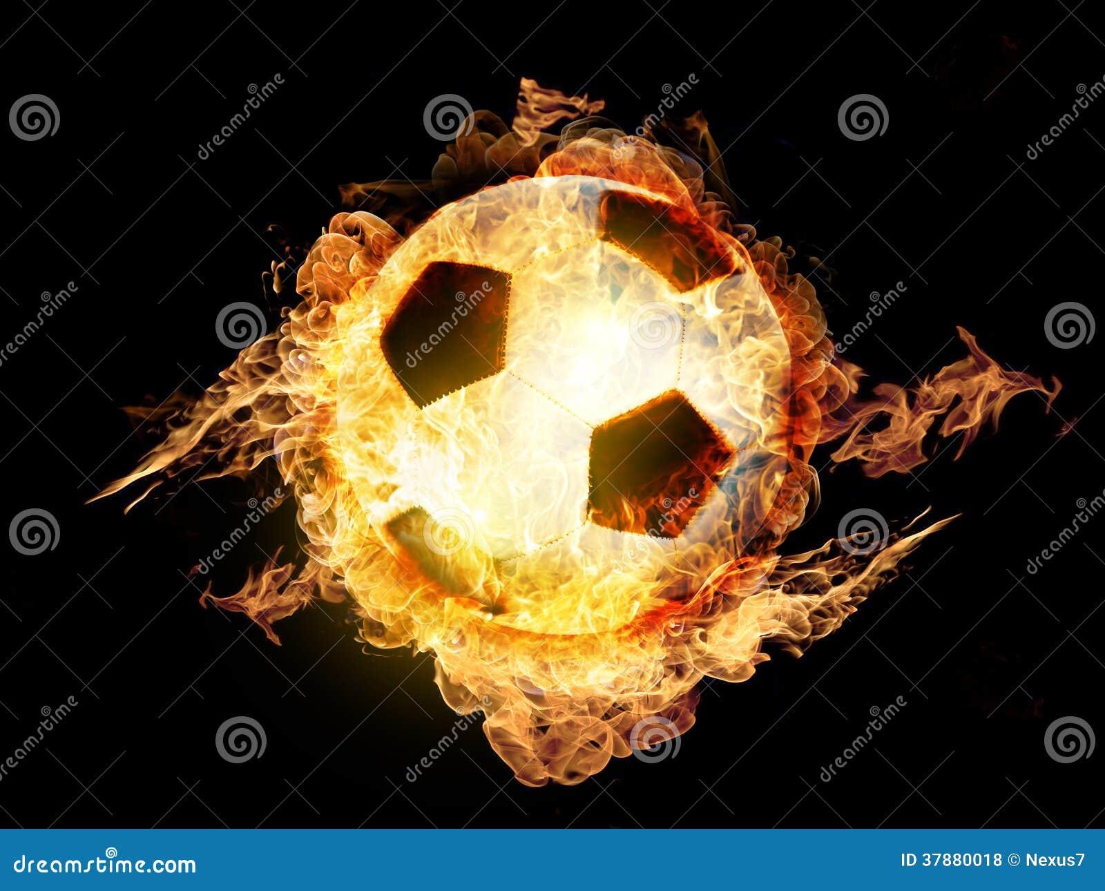 Voetbalbal op Brand