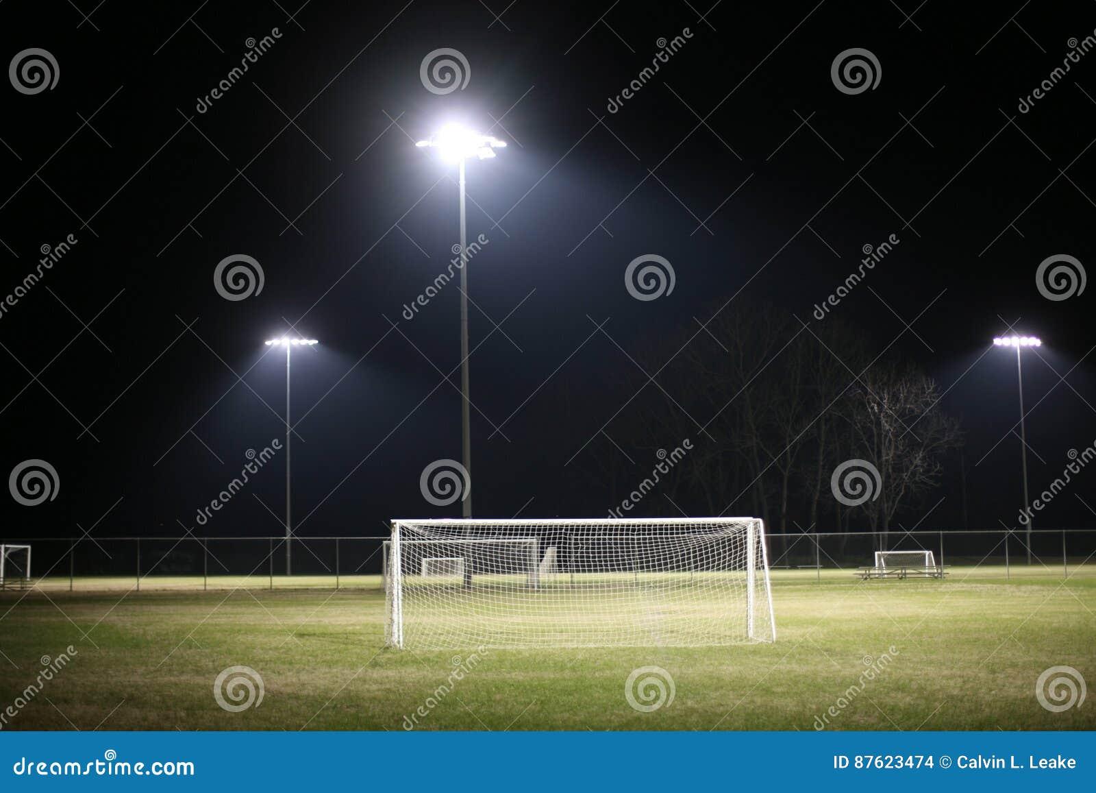Voetbalgebied bij Nacht