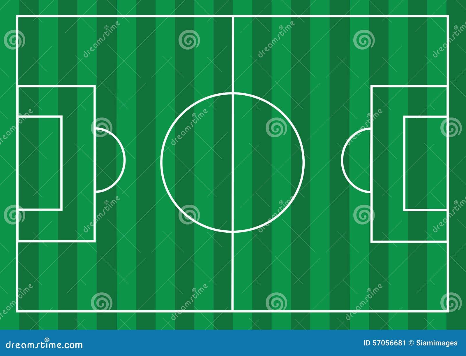 Voetbalgebied of gebied van het Voetbal het geweven gras