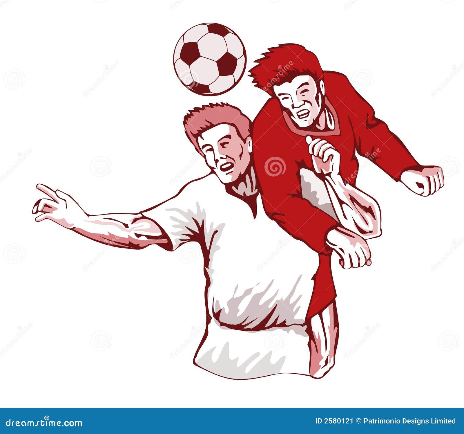 Voetballers die bal leiden