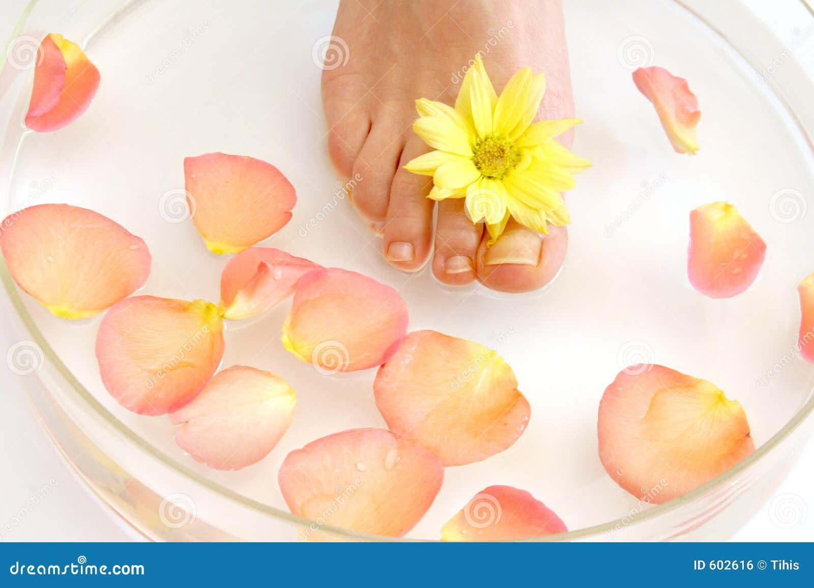 Voeten en bloemen