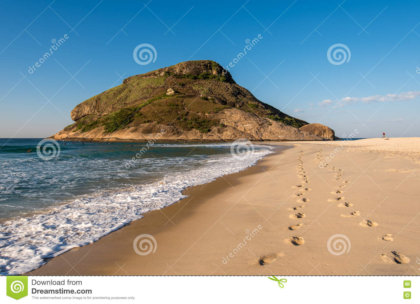 Voetstappen in het Strand