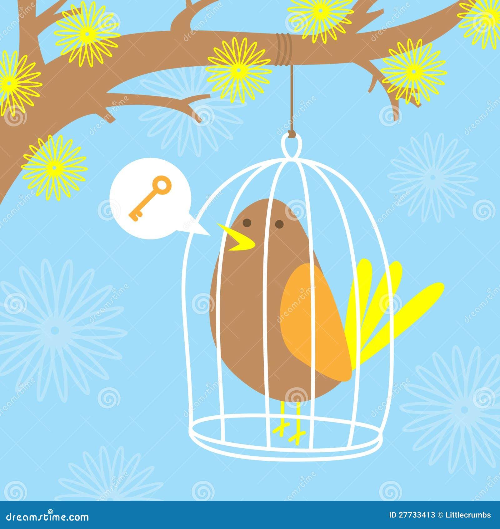 Vogel in einem Rahmen