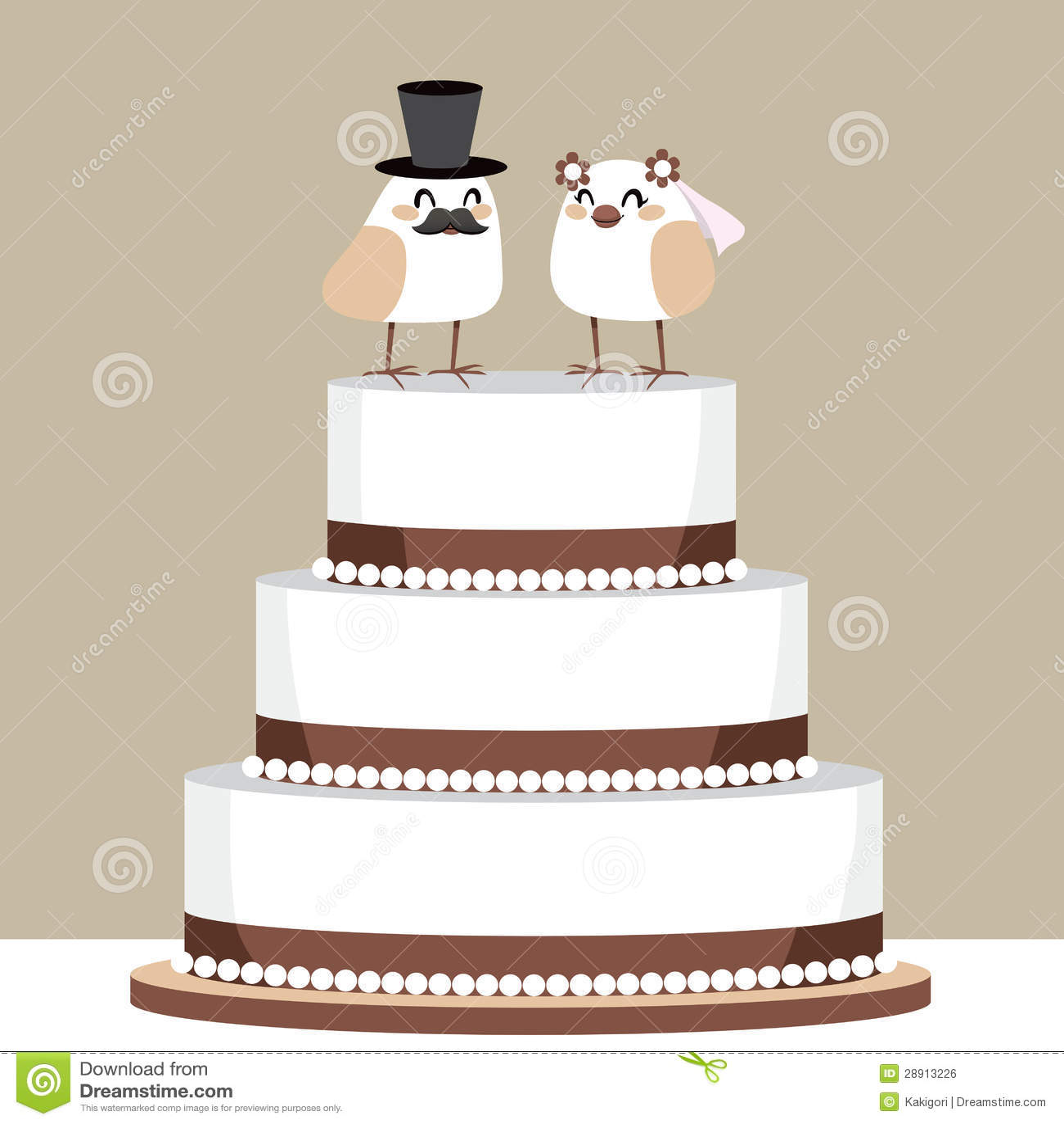 Vogel Liebes Hochzeitstorte Vektor Abbildung Illustration Von Gruss
