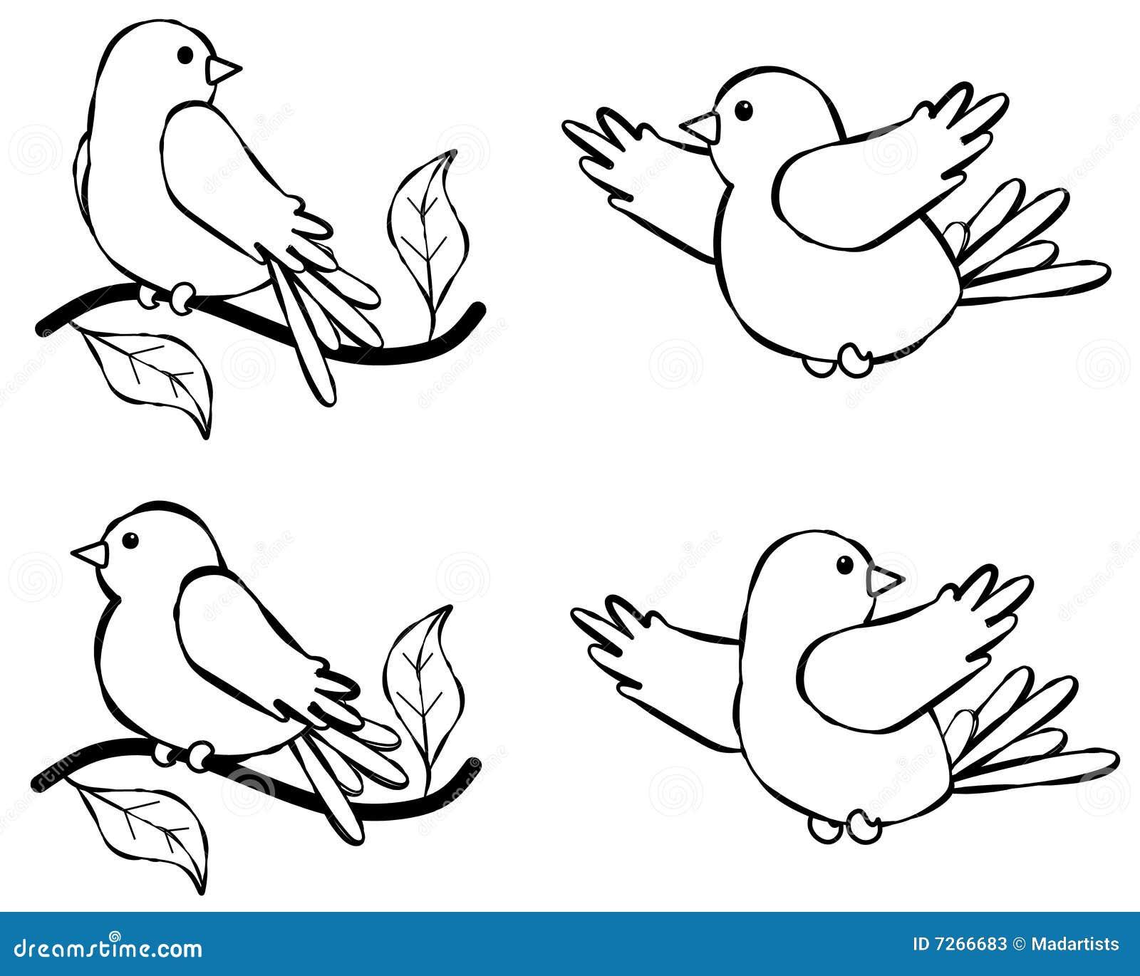 Vogel-Zeile Kunst-Abbildung 2