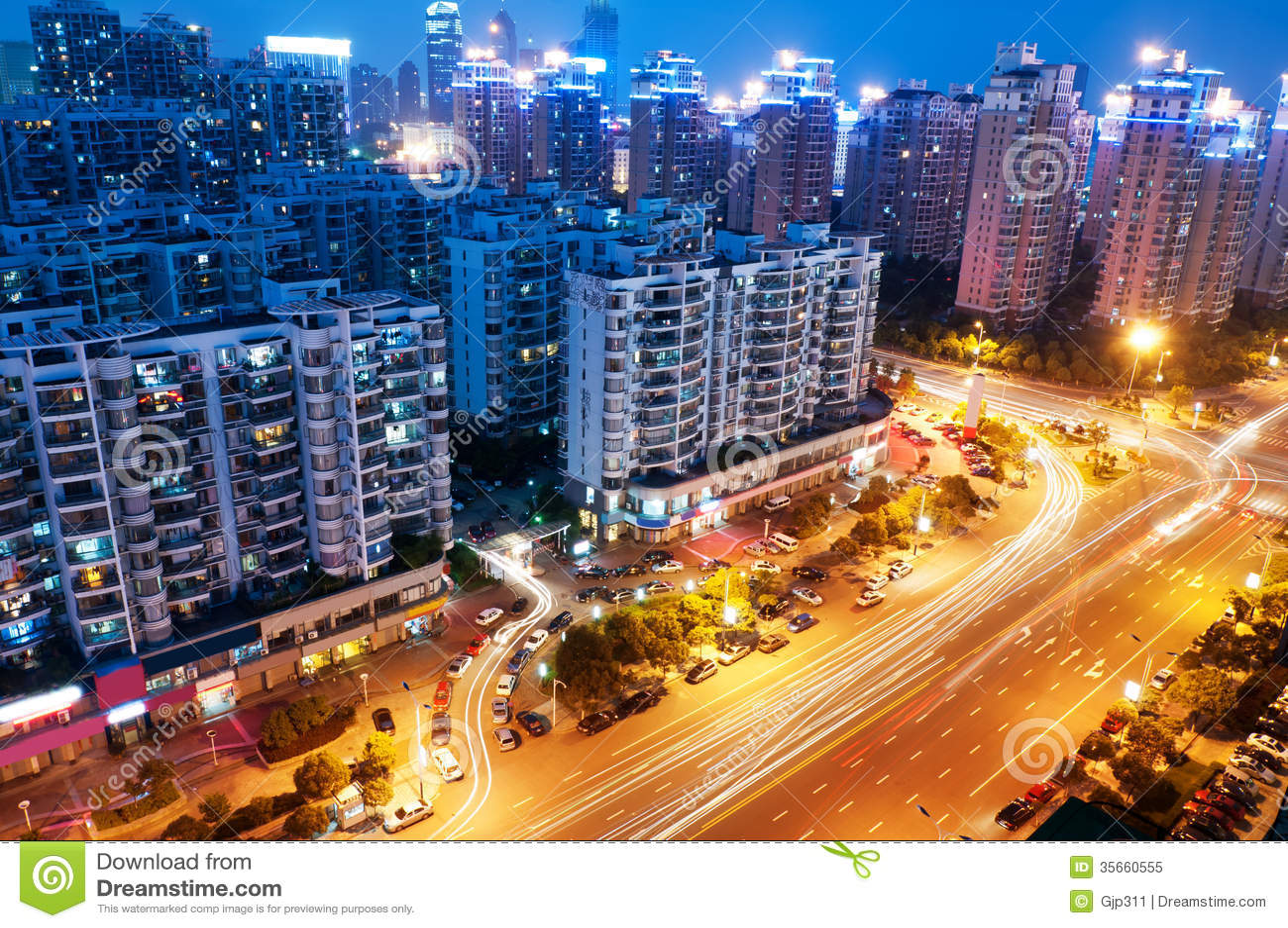 Vogelansicht in Wuhan China