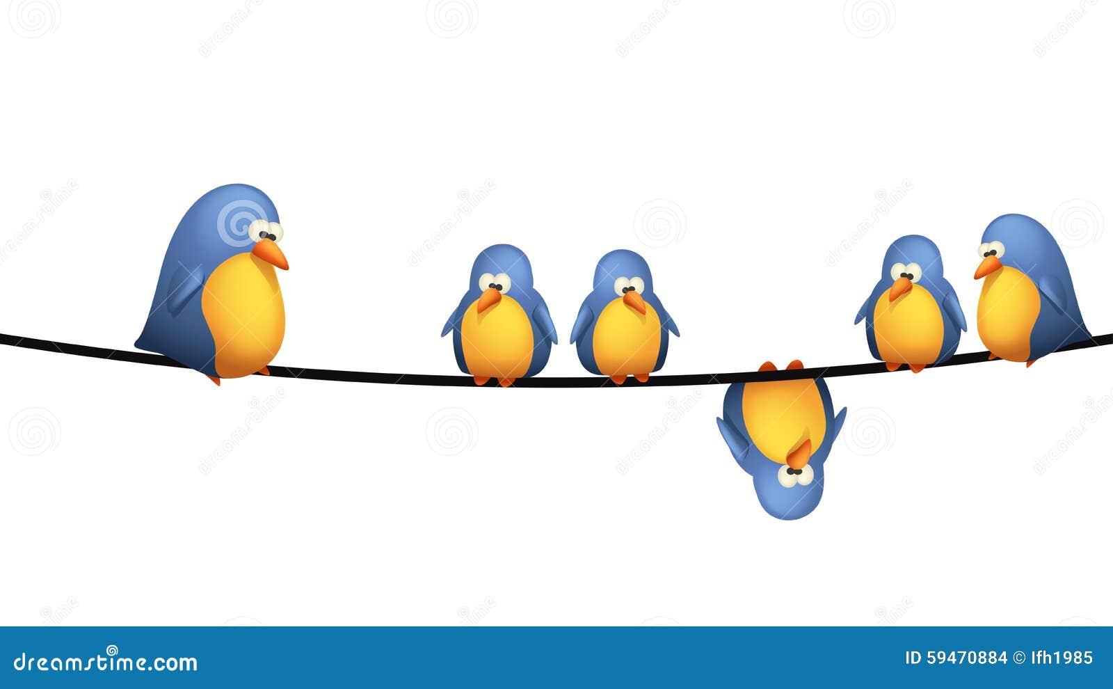 Vogeldraht vektor abbildung. Illustration von abbildung - 59470884