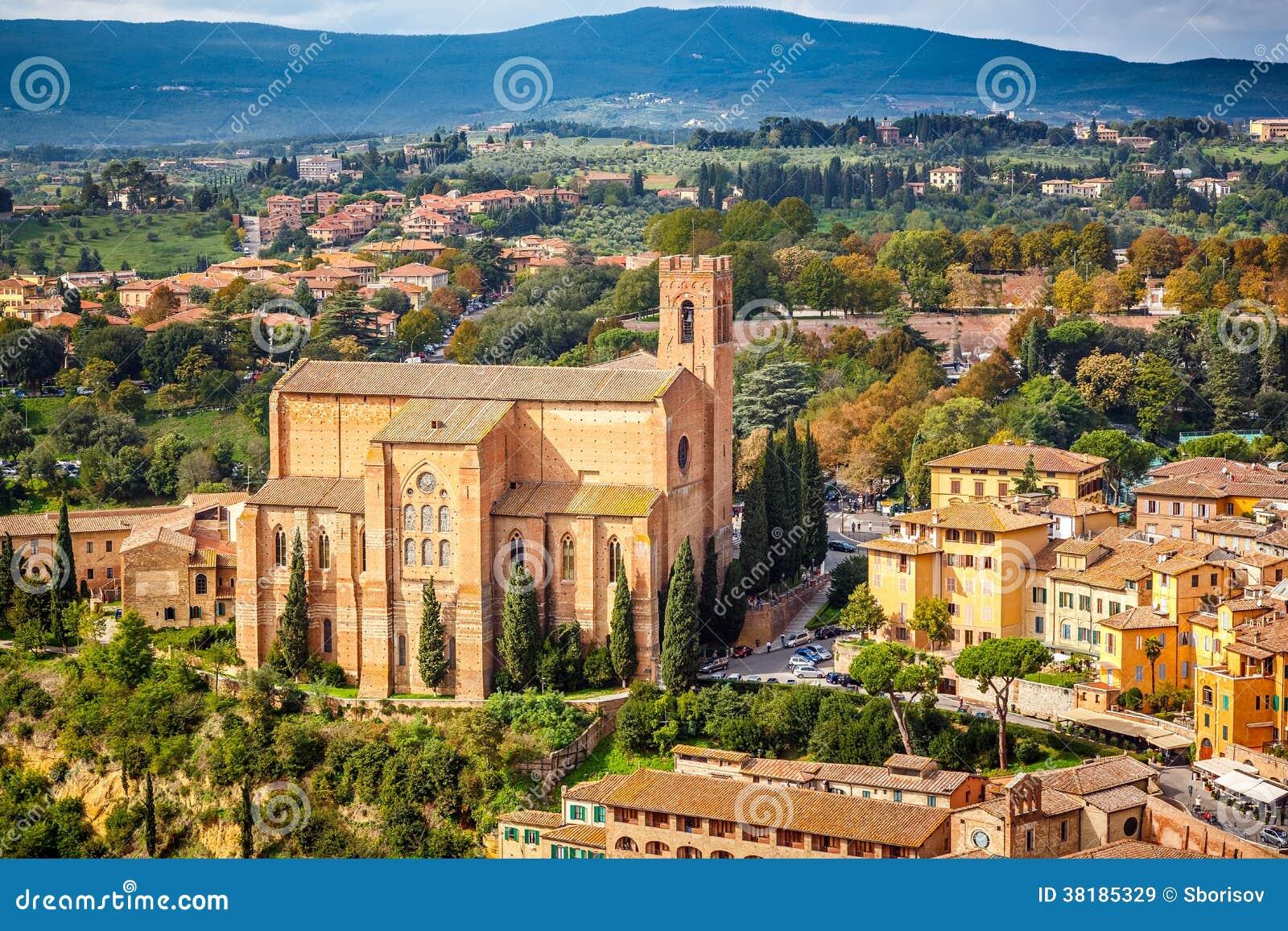 Vogelperspektive über Siena