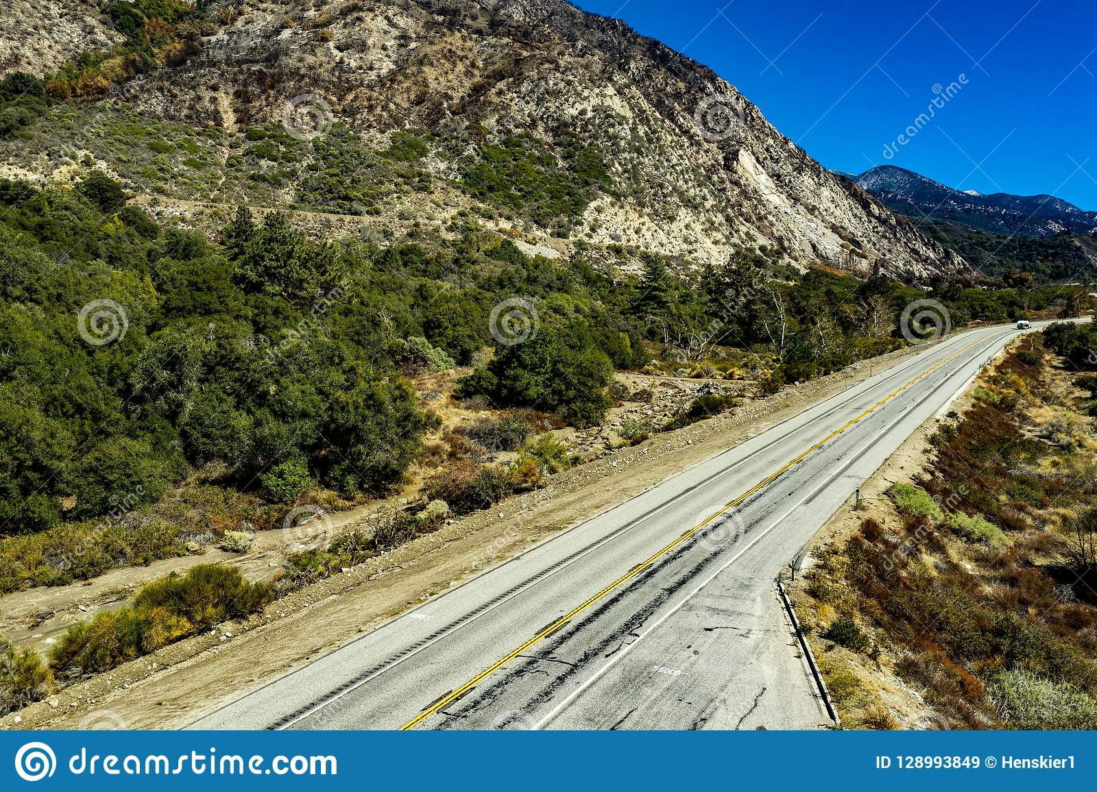 Vogelperspektive der Eichen-Schlucht, Kalifornien