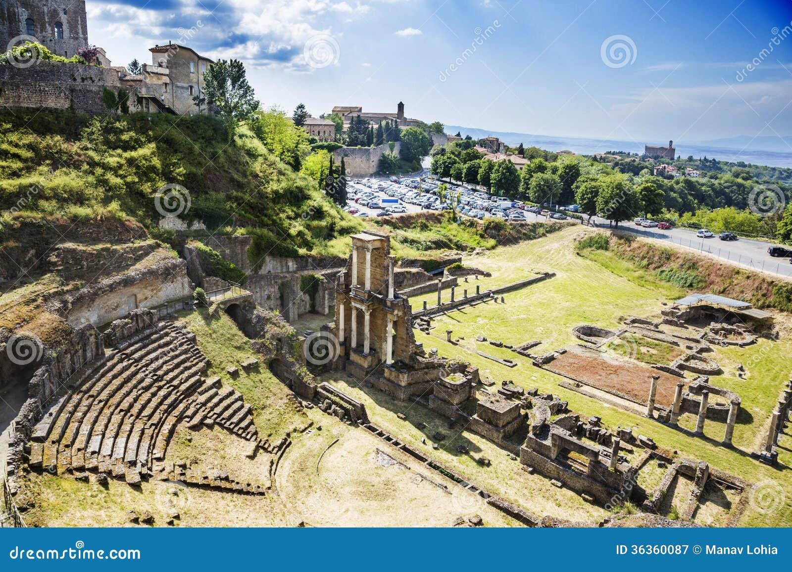 Vogelperspektive des alten römischen Amphitheatre