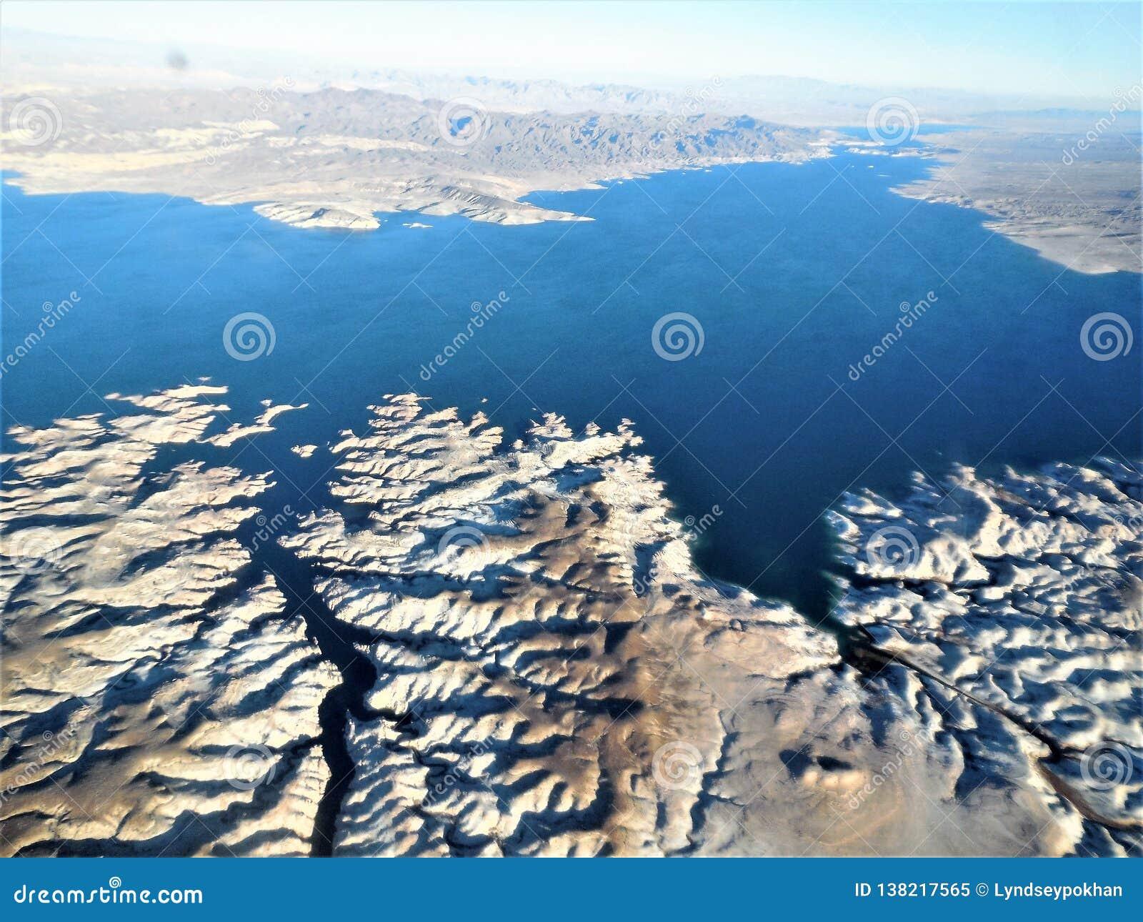 Vogelperspektive des Fluges zu Grand Canyon