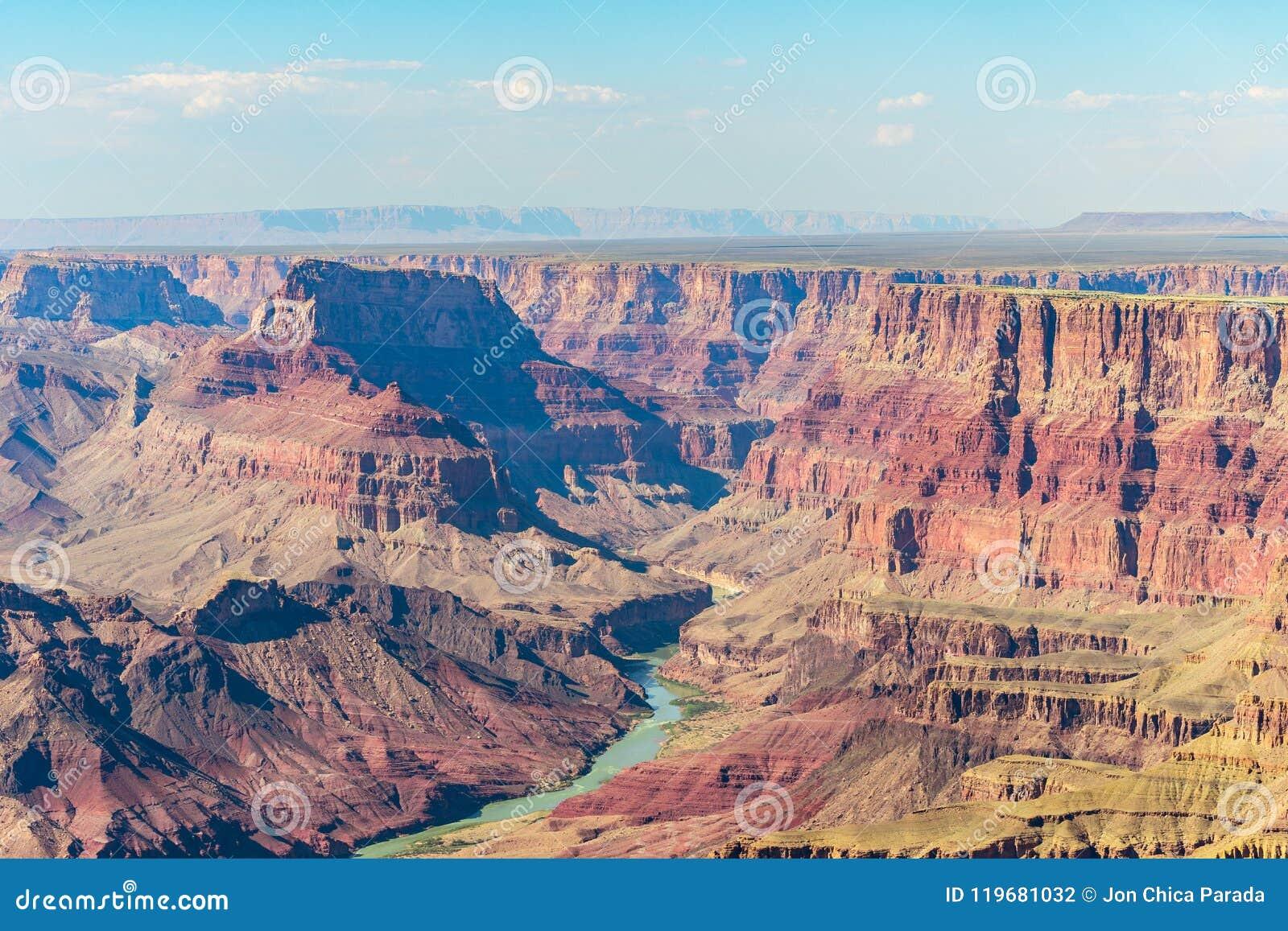 Vogelperspektive des Nationalparks des Grand Canyon, Arizona