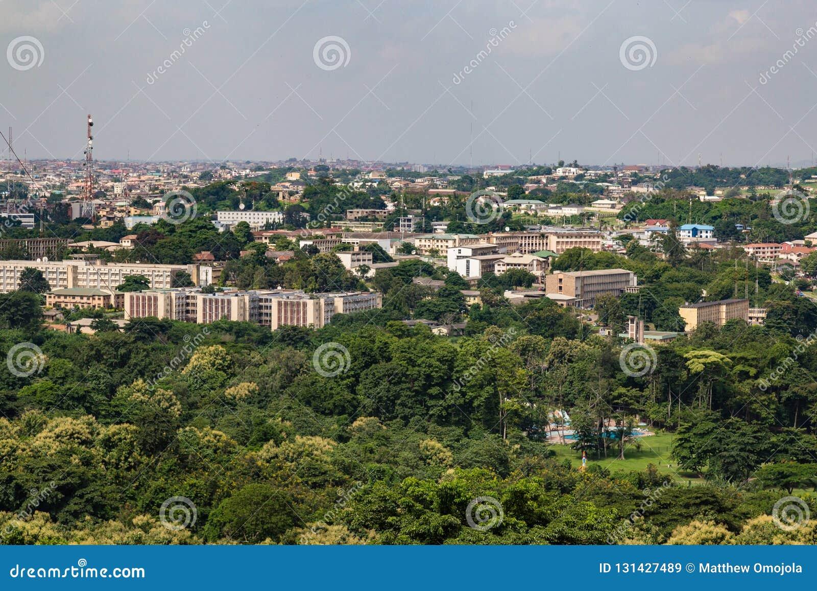 Vogelperspektive des Oyo-Landesregierungssekretariats Ibadan Nigeria