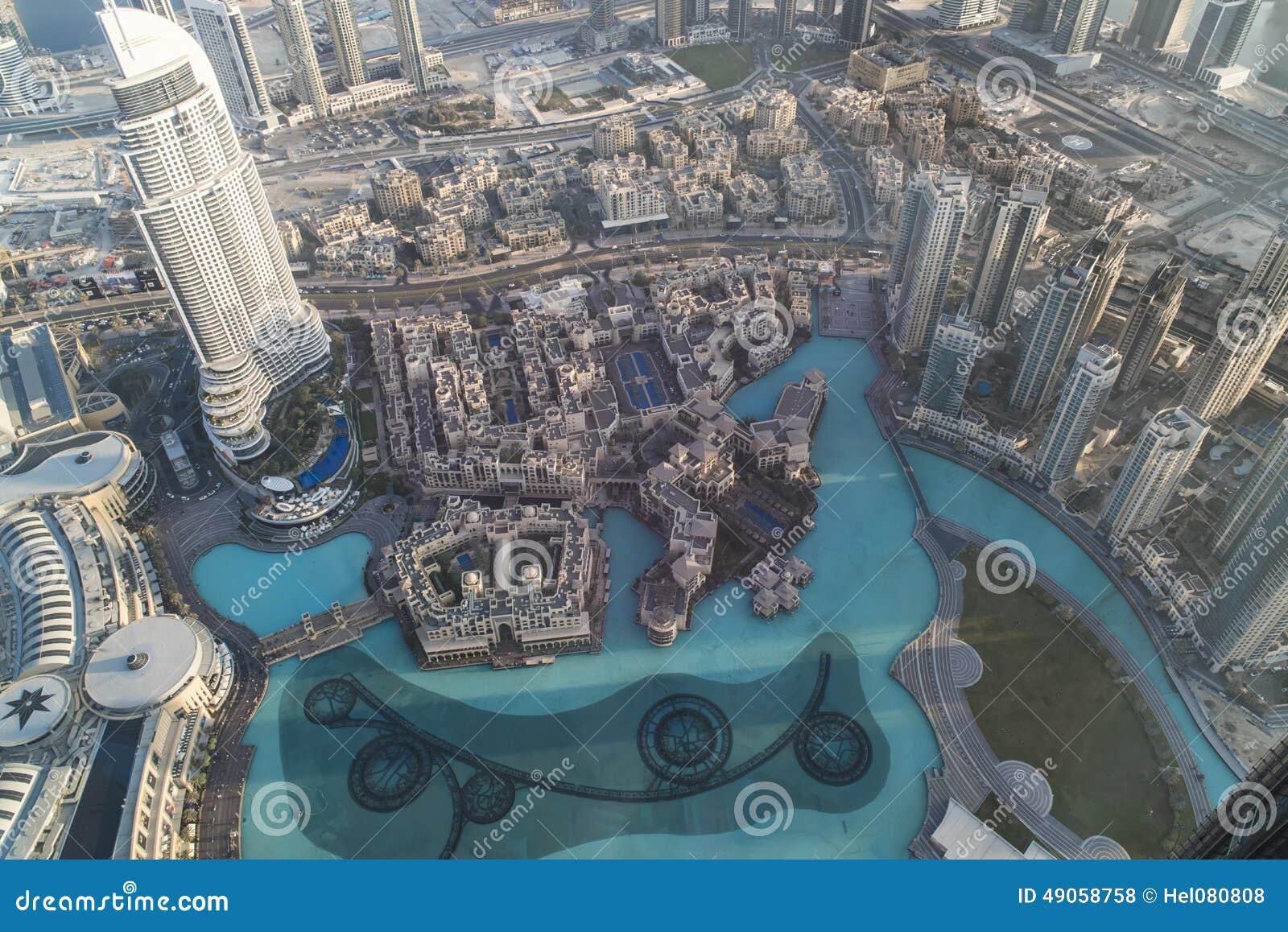 Vogelperspektive im Stadtzentrum gelegenes Dubai