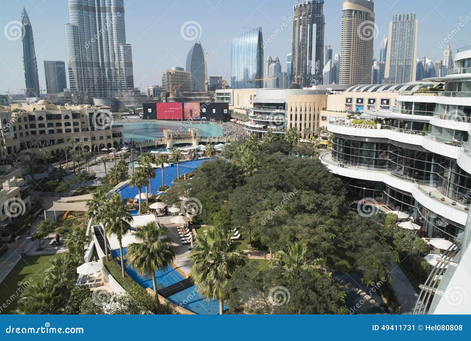 Download Vogelperspektive Im Stadtzentrum Gelegenes Dubai Redaktionelles Foto - Bild von hoch, mittlere: 49411731