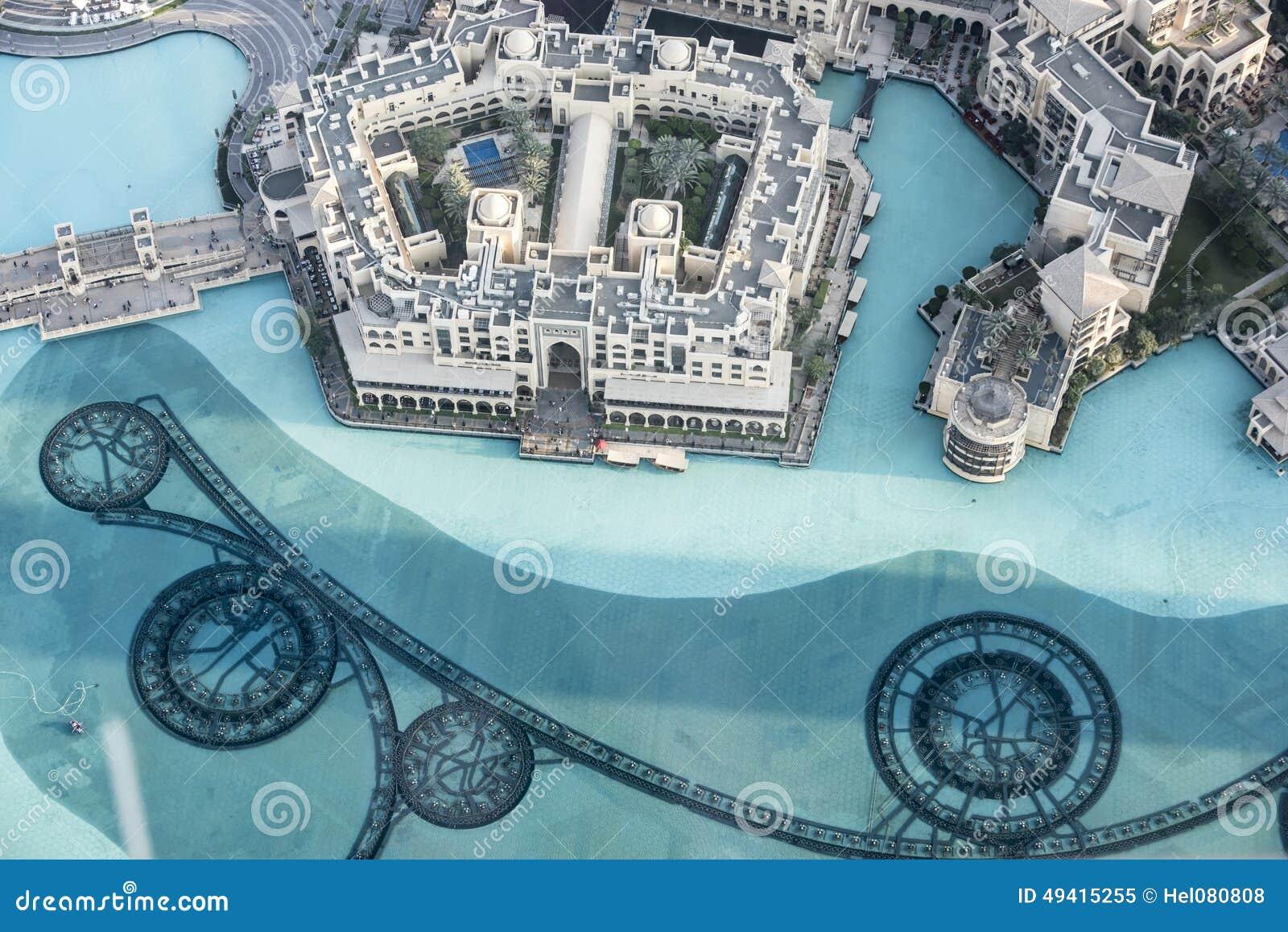Download Vogelperspektive Suk Al Bahar Stockbild - Bild von brunnen, emiräte: 49415255
