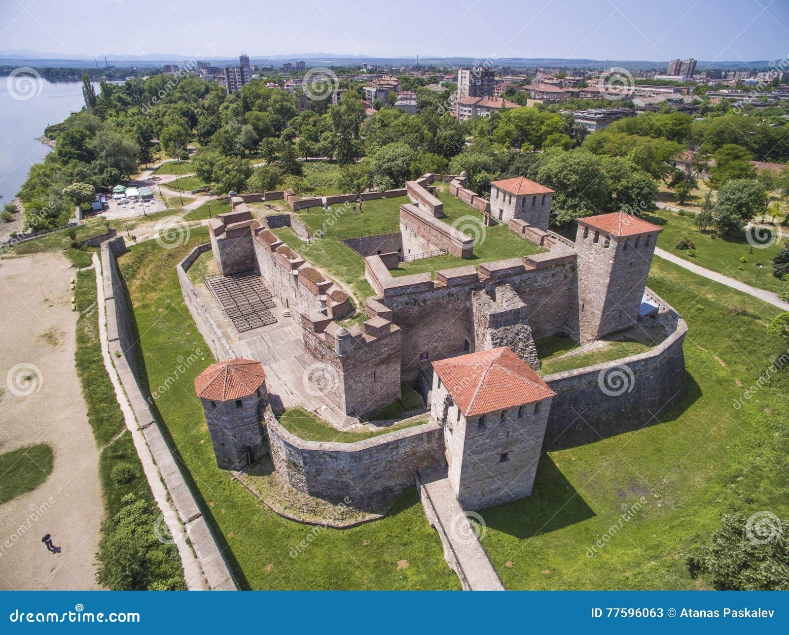 Vogelperspektive von Baba Vida-Festung, Vidin, Bulgarien