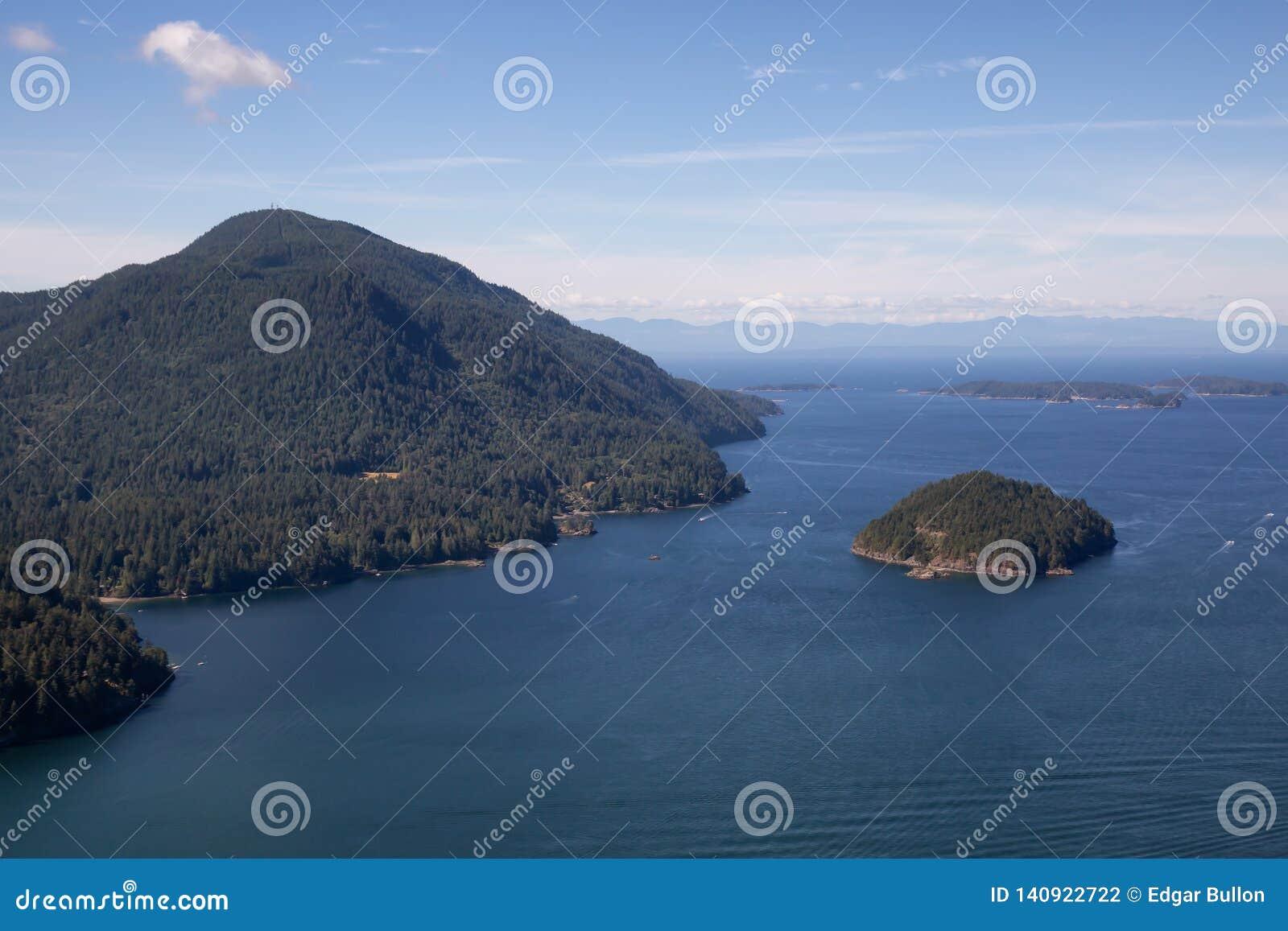 Vogelperspektive von Bowen-Insel