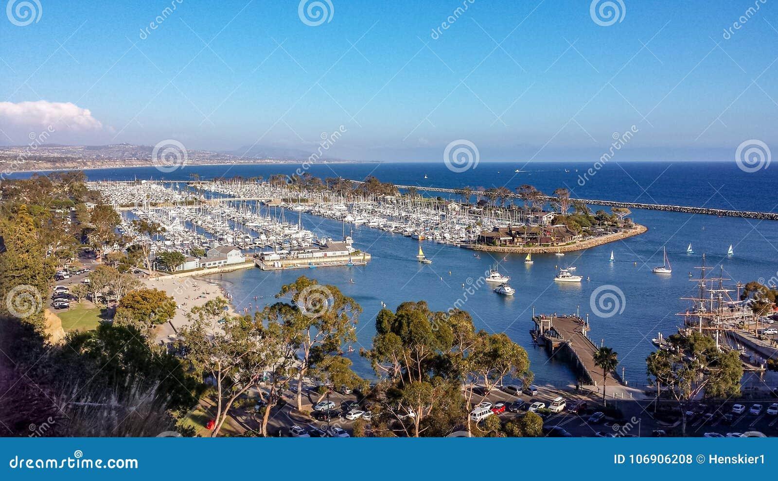Vogelperspektive von Dana Point Harbor, Kalifornien