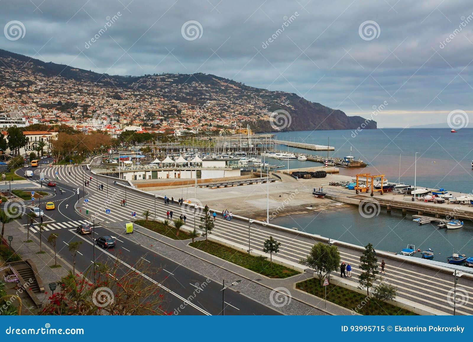 Vogelperspektive von Funchal, Hauptstadt auf Madeira-Insel