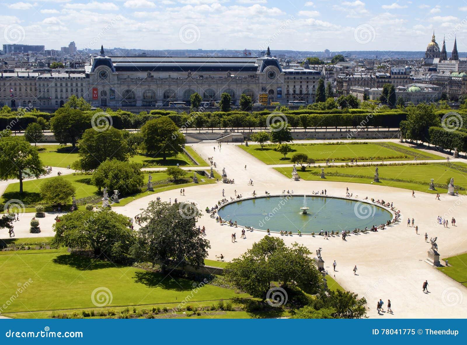 Vogelperspektive Von Jardin DES Tuileries Redaktionelles ...