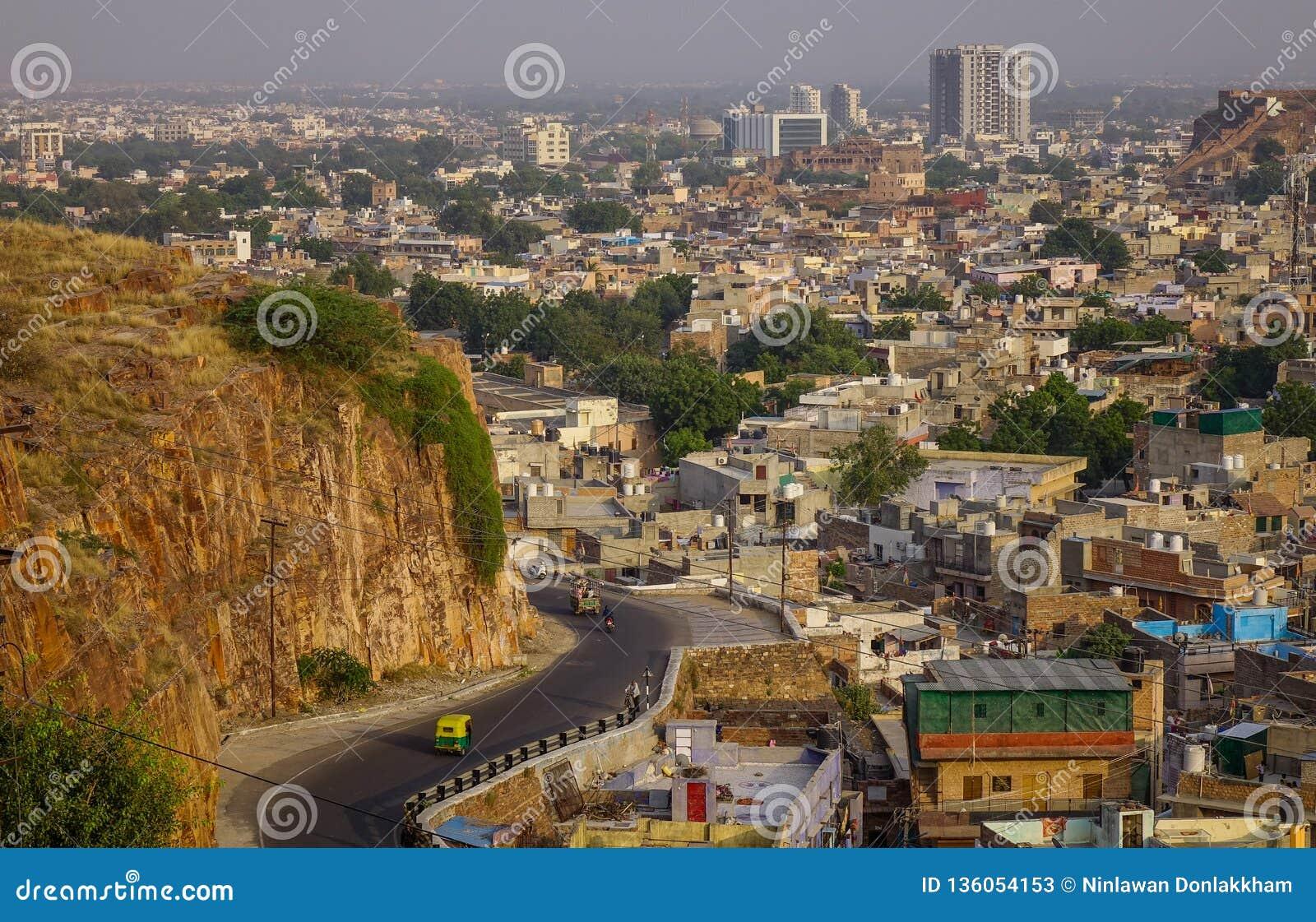 Vogelperspektive von Jodhpur, Indien