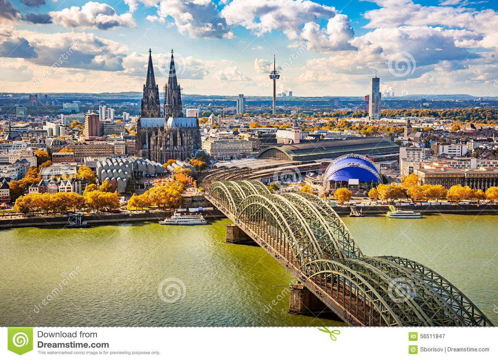 Vogelperspektive von Köln