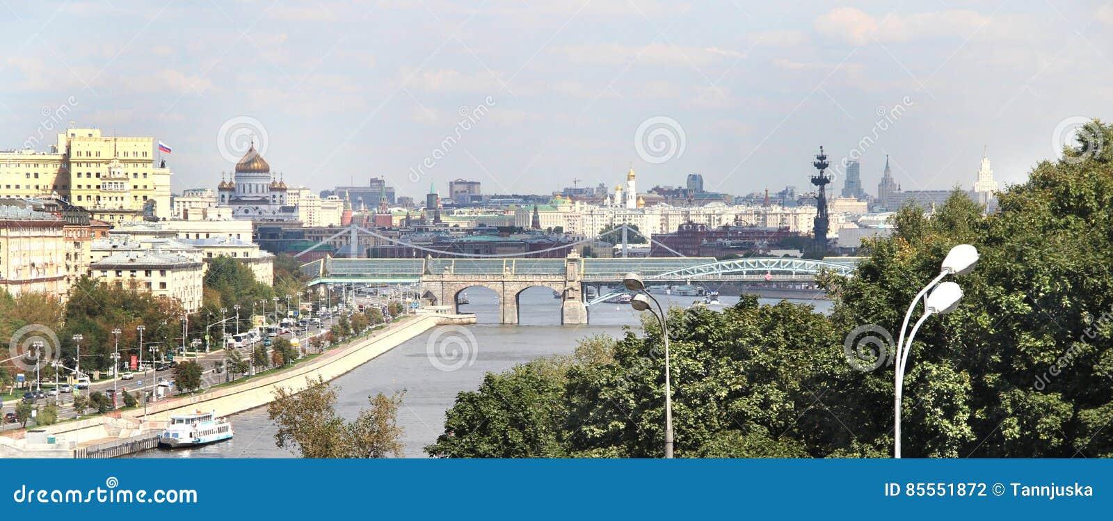 Vogelperspektive von Moskau-Stadt