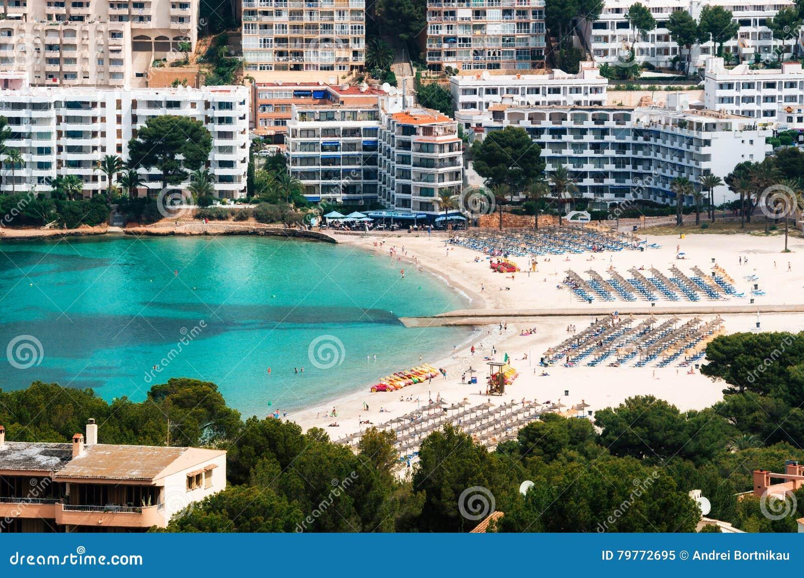 Vogelperspektive Von Santa Ponsa Strand Und Von Hotels Mallorca